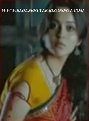 yellow sleeve designs blouse