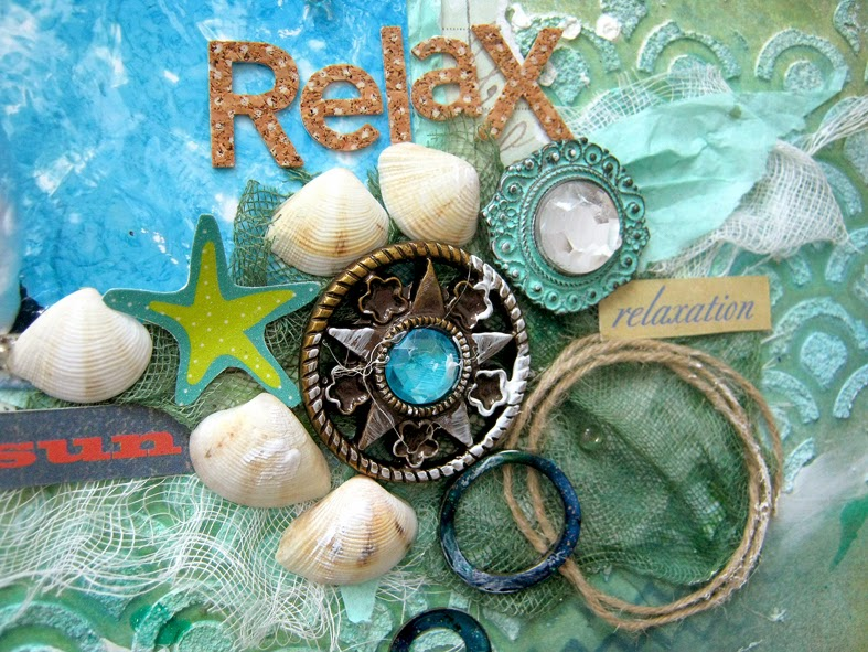 Relax mixed media layout