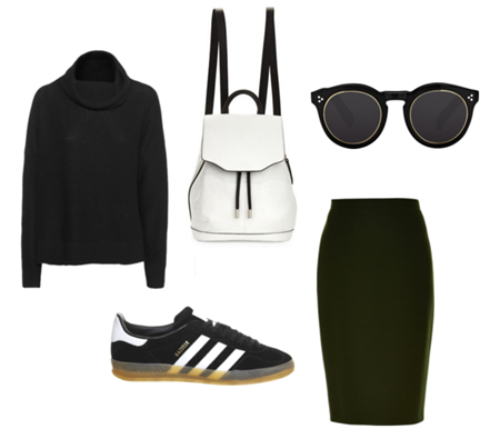 Style Insight: Skirt and Sneakers