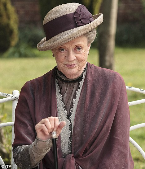 Maggie Smith Emmy Award for Outstanding Supporting Actress In A Drama Series Downton Abbey
