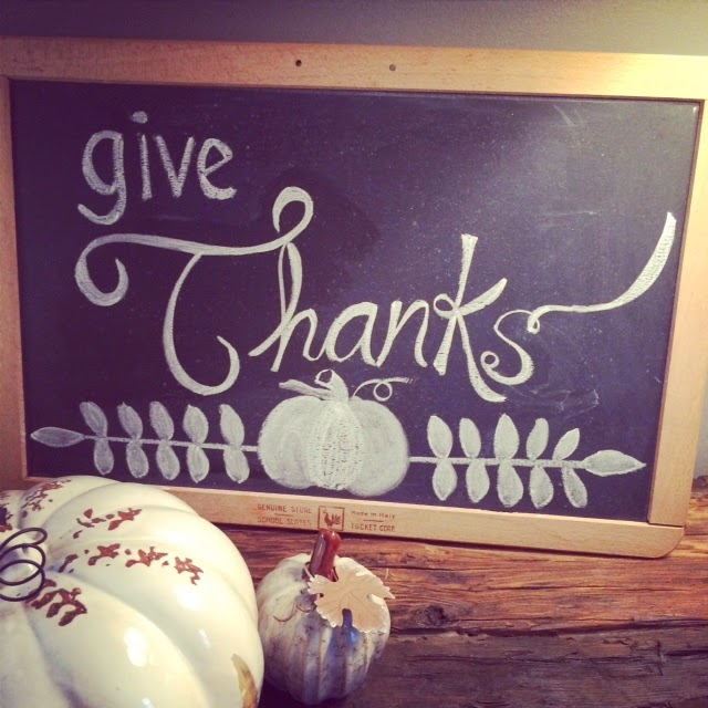 Give Thanks - Freehand Chalkboard Art - LeroyLime