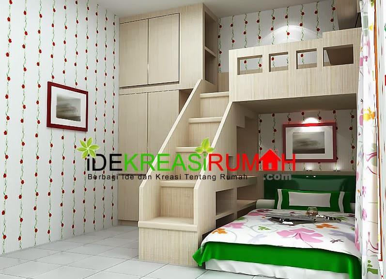 desain interior unik kamar tidur tingkat untuk anak car