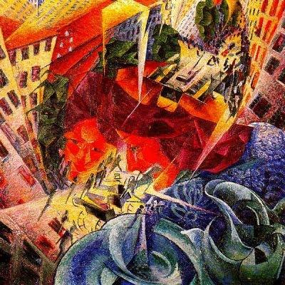 Visions simultànies (Umberto Boccioni)