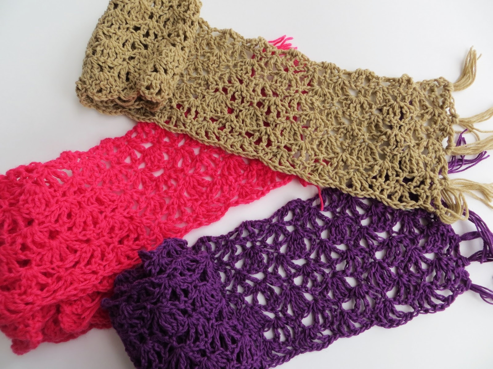 Quick Crochet : lacy crochet: quick and easy crochet scarf, my free pattern