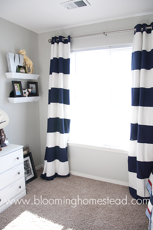 Striped curtains how to blooming homestead Bold black and white striped curtains