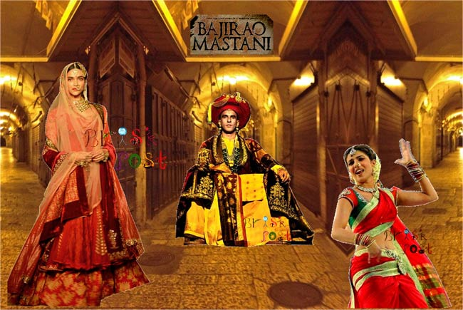 Deepika as Mastani in sharara and dupatta, Ranveer Singh as Bajirao in dhoti, Priyanka Chopra as Kashibai set to bring new trending fashion for Streets of Delhi & Maharashtra
