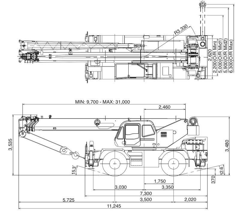 Mobile Crane 50 Ton Dimension : Ton crane load chart bing images