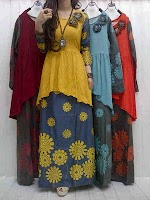 Gamis Denim + Rompi Jersey SOLD OUT