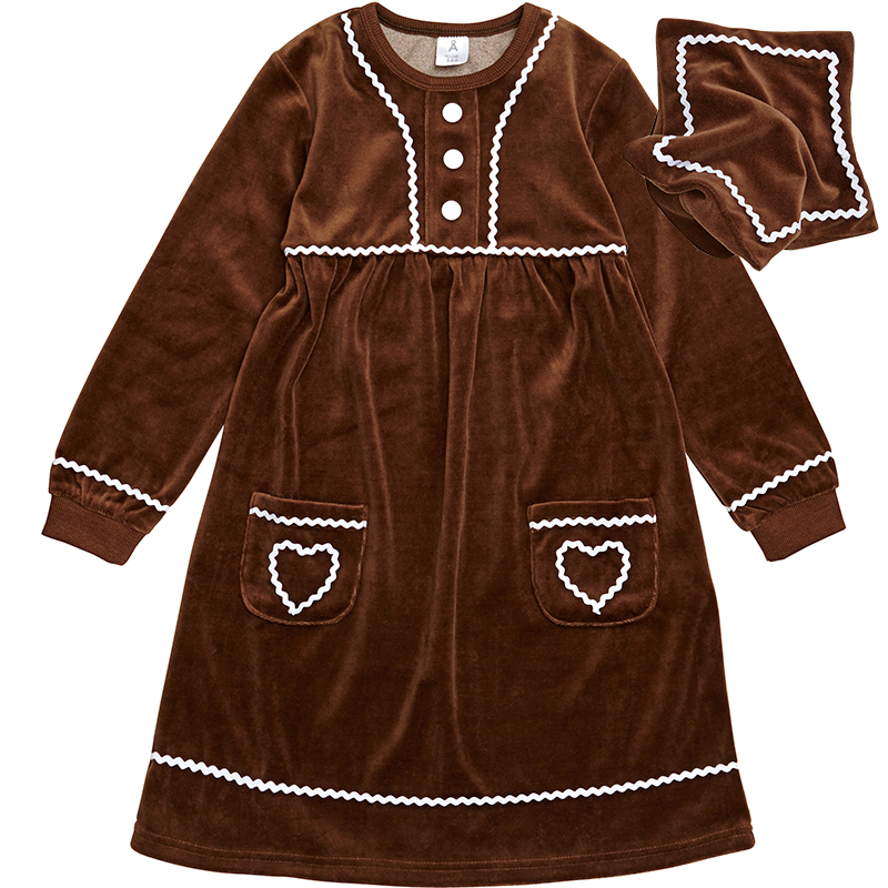 Brown gingerbread dress