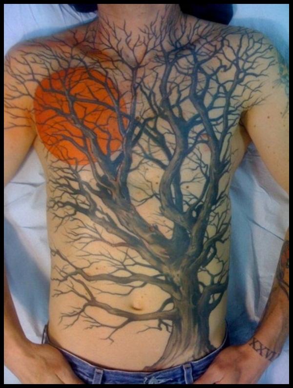 50 Tree Line Tattoo Design Ideas For Men – Timberline Ink