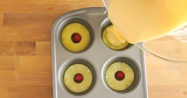 Miniature Pineapple Upside-Down Cakes