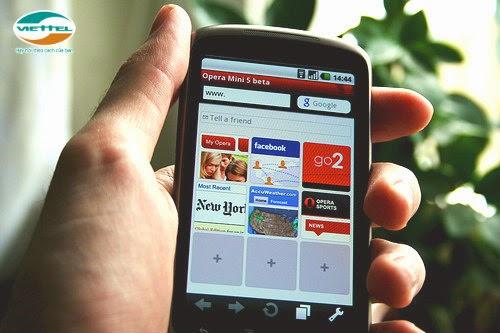 Một triệu ngày dùng internet Miễn phí với gói OperaMini Viettel