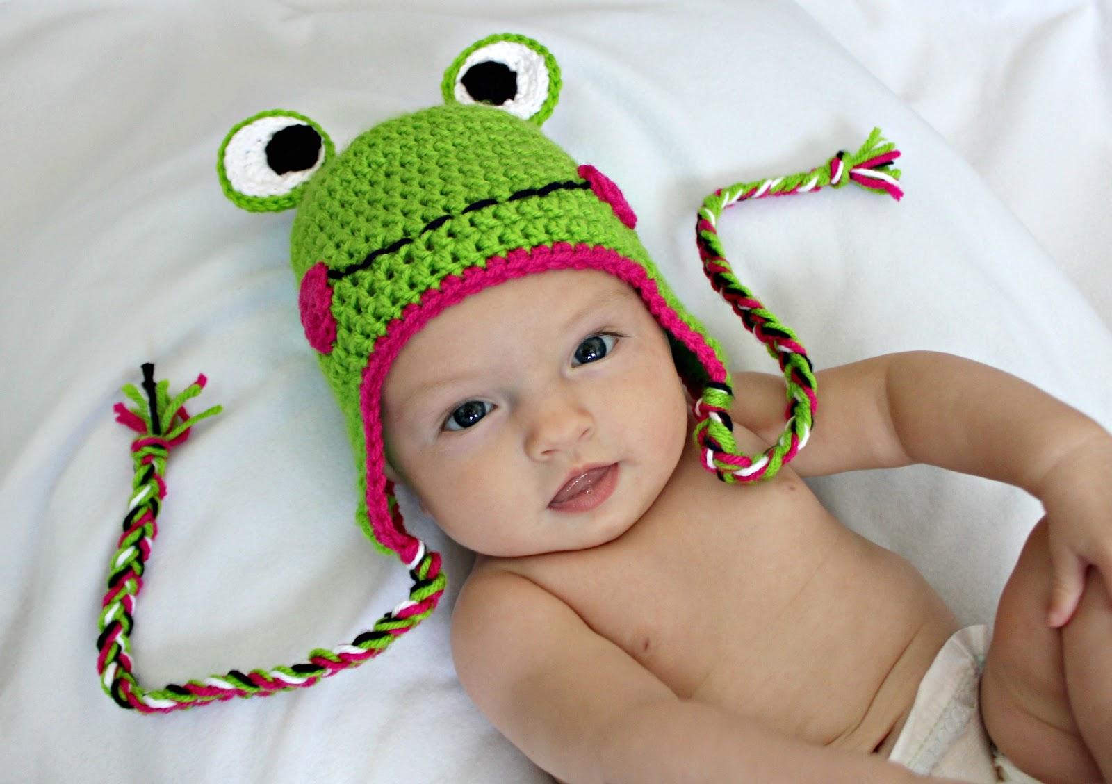 Free Crochet Pattern Newborn Frog Hat : RisC Handmade: Crochet Frog Hat Pattern