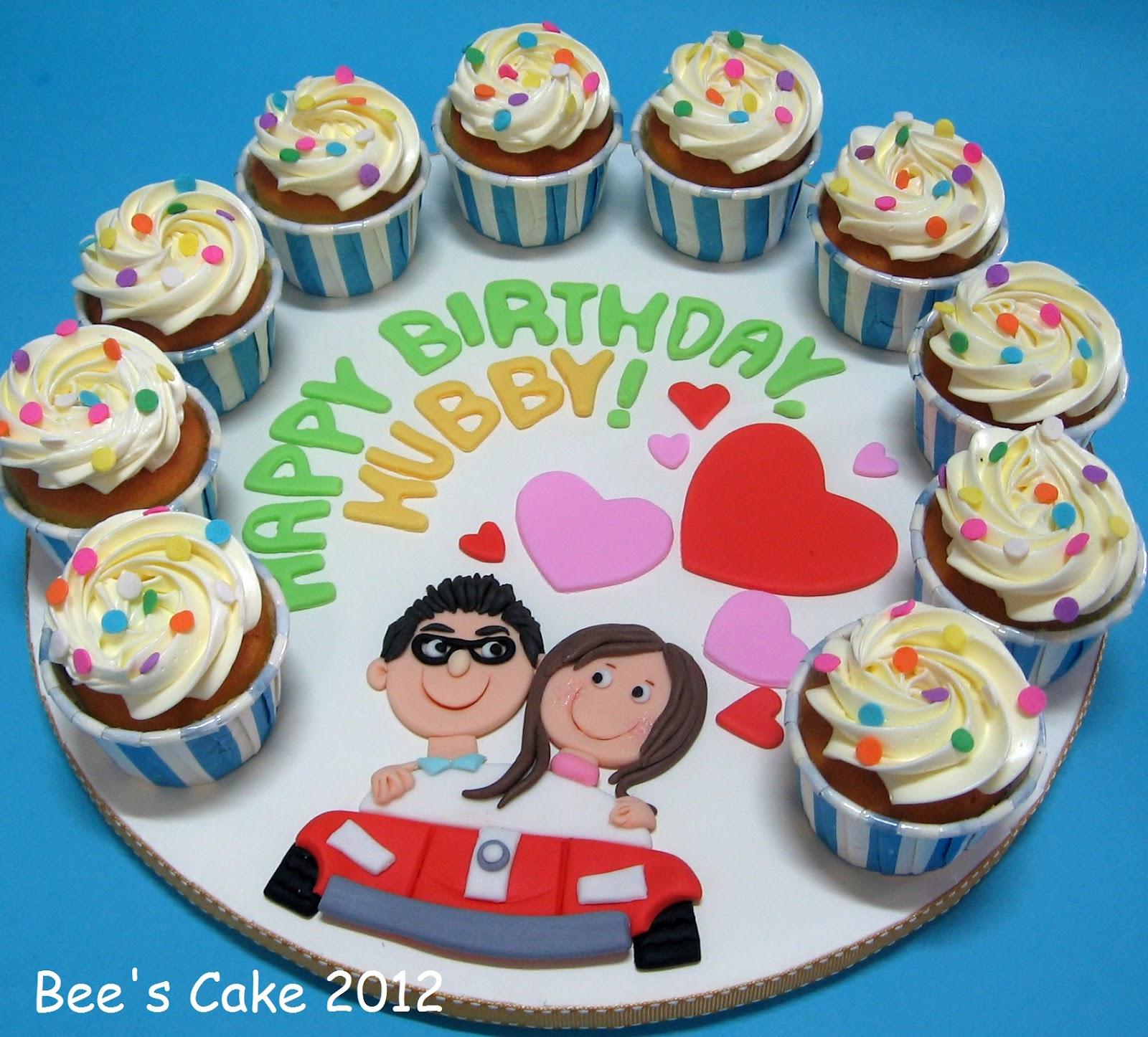 Bees Cake: Happy Birthday Hubby
