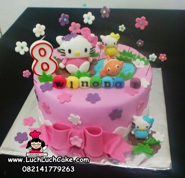 Kue Tart Ulang Tahun Anak Hello Kitty