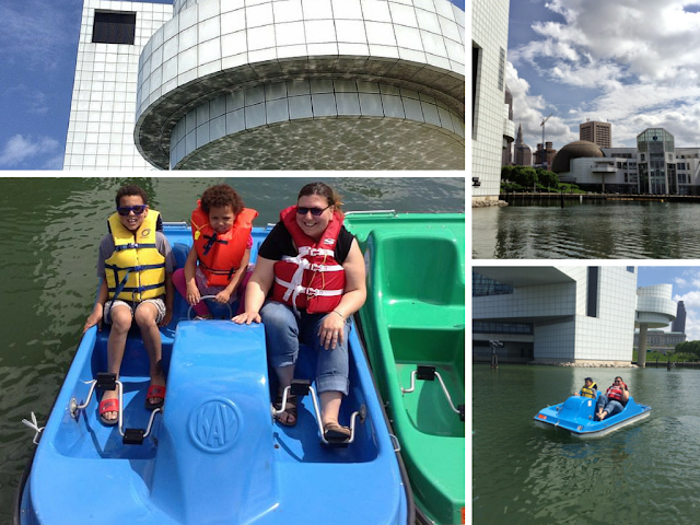 #RockandDock - paddle boating at North Coast Harbor | 11 Reasons We Love Cleveland in the Summer #thisiscle