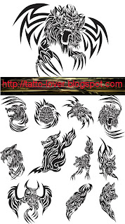 Angry Animals Tattoo Vector n Font Type