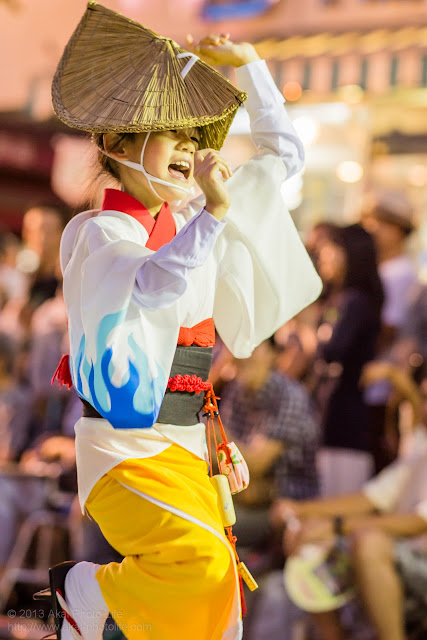 三鷹阿波踊り きまぐ連の子供の女踊り