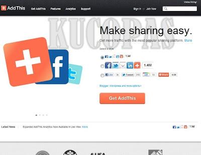 Cara Membuat Dan Memasang Tombol Share AddThis Di Blog