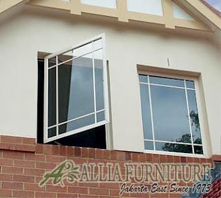 Casement window jendela rumah model buka 100 persen