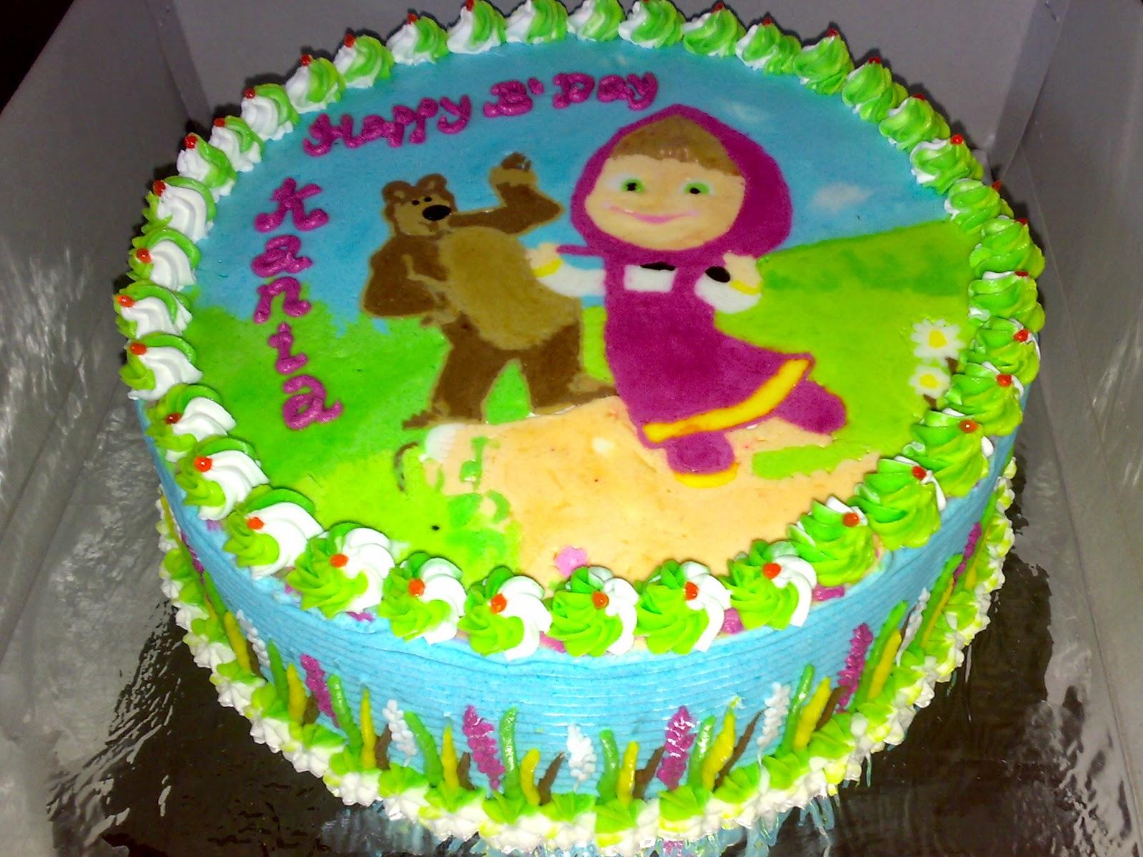 pesan kue gambar masha