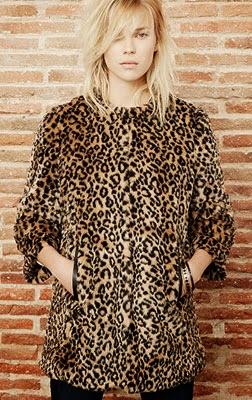 Suiteblanco mulher casaco de pelo animal print outono inverno 2014 2015
