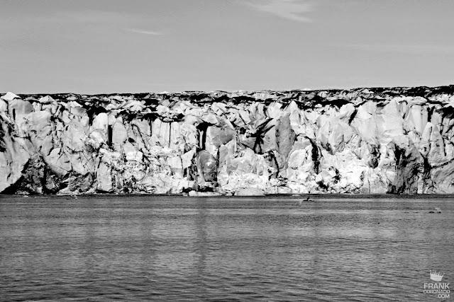 muro de glaciar en islandia
