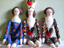 Vintage fabric dolls