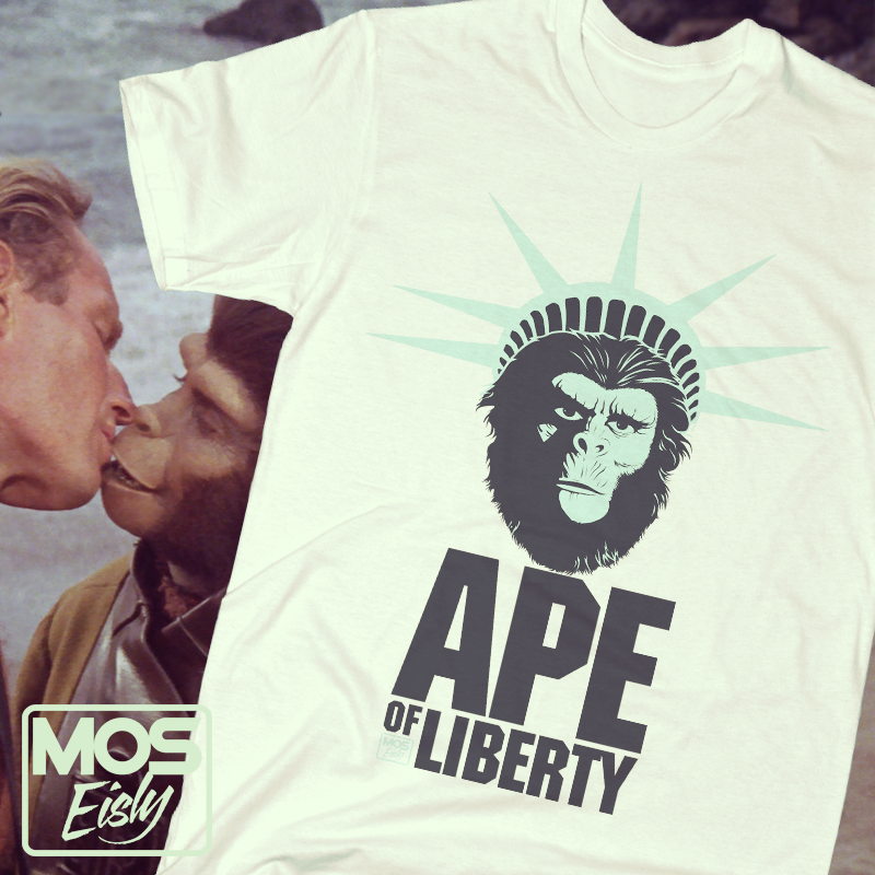 camiseta el planeta de los simios