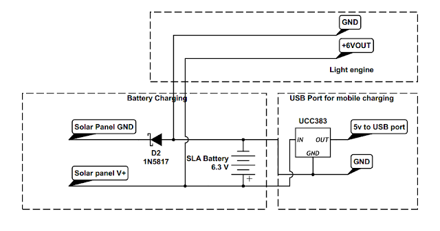 Circuit Diagram for solar mobile phone charger