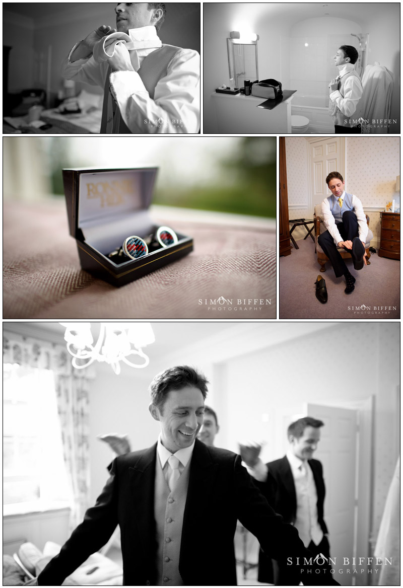 Groom's preparations: cufflinks, tie and shoes