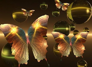 Mariposas y burbujas - Butterflies and bubbles.