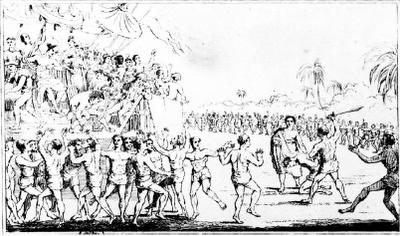Sacrificios en Dahomey