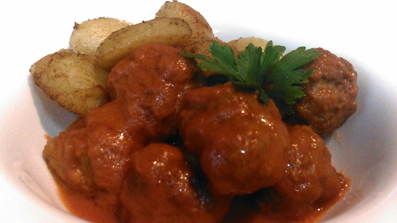 Albóndigas especiadas en salsa suave de tomate sin gluten