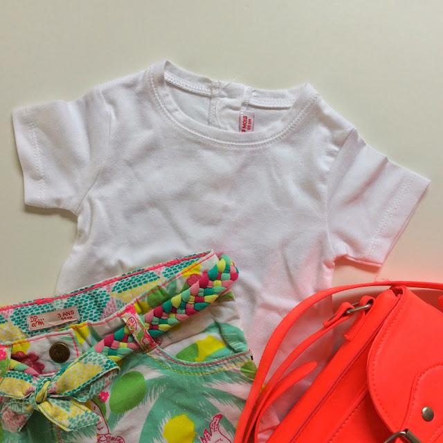 shopping bébé été chez DPAM - short - t-shirt - cartable