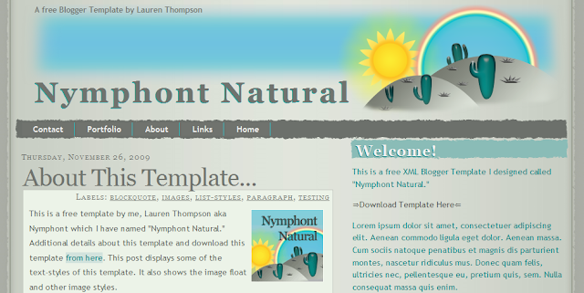 Fun Blogger Template