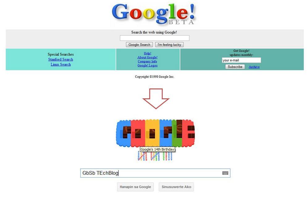 google 1998 beta