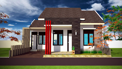 Tampak depan rumah minimalis , rumah minimalis Modern, kopel  type 70, 65, 56