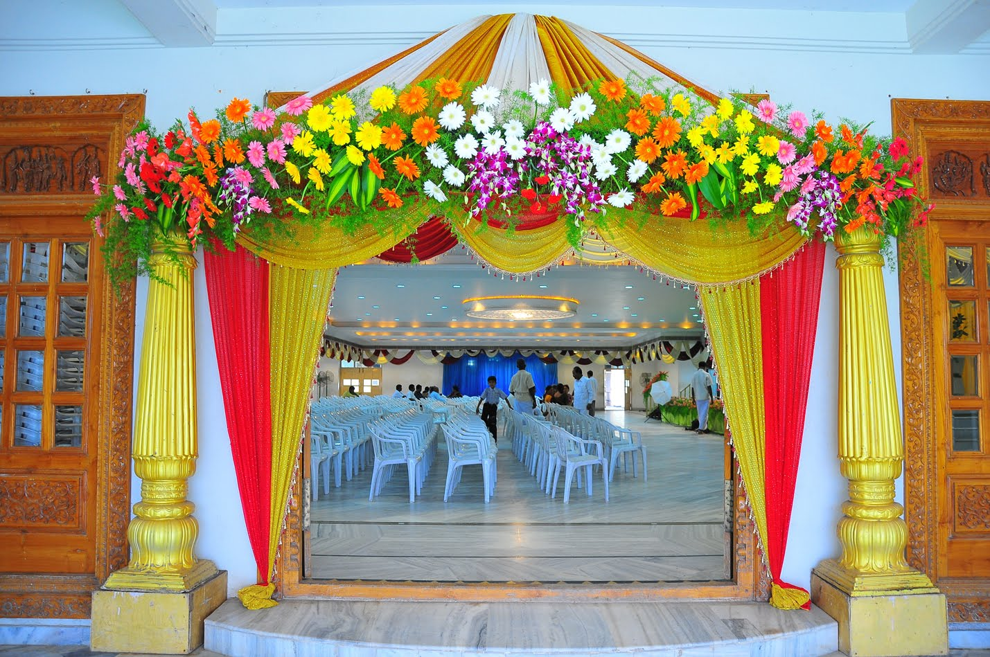 Decoration ideas cheap wedding decorations halls halls hall entrance