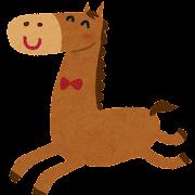馬のイラスト「楽しそうに走る馬」(午年)