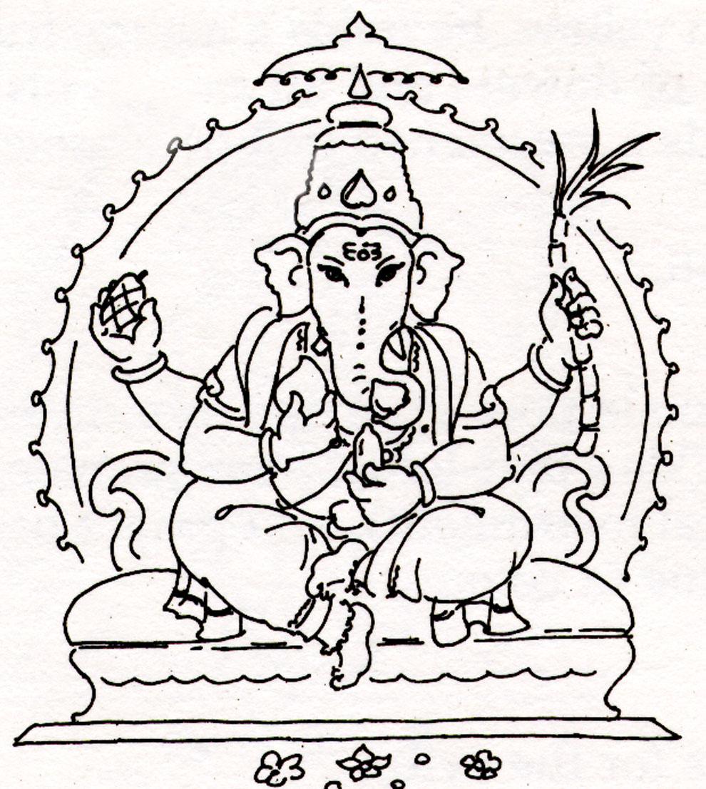 Ganesh Drawing Lord ganesh ji wallpapper or