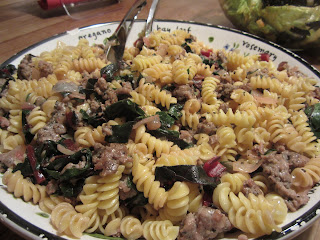 Pasta with Red Chard &amp; Sausage 