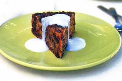 Semolina christmas pudding with sherry custard Recipe