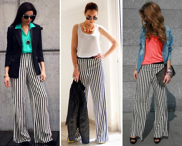 Pantalones bicolor en las calles