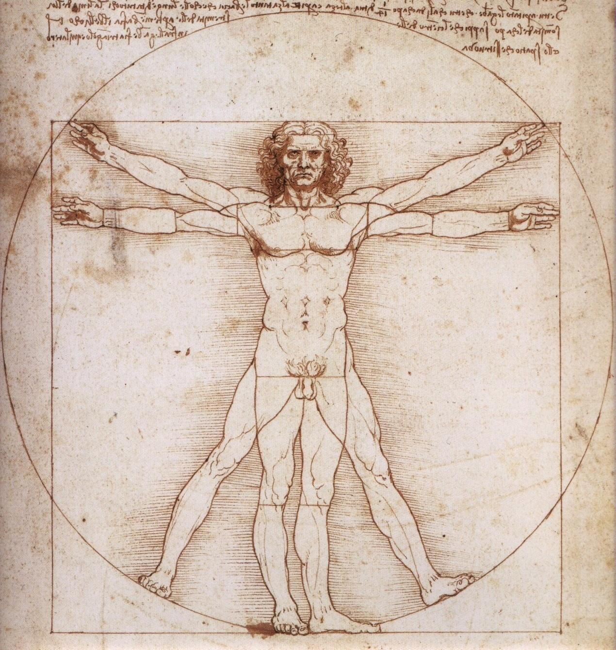 """Leonardo Da Vinci y """"El hombre de Vitrubio"""""""