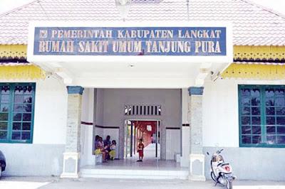 Tampak Depan Bangunan Rumah Sakit Tanjung Pura Jl.Chairil Anwar No 43