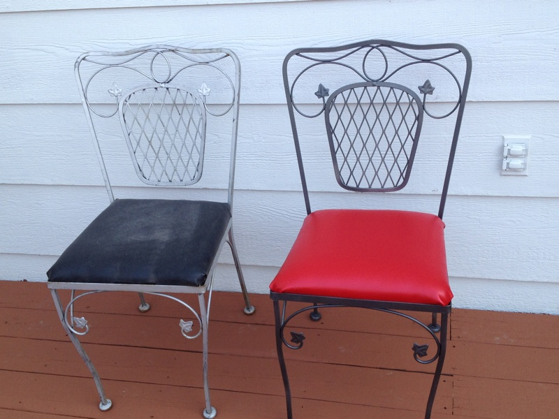Reupholster And Repaint Patio Furniture Rustoleum Universal Metallic Paint
