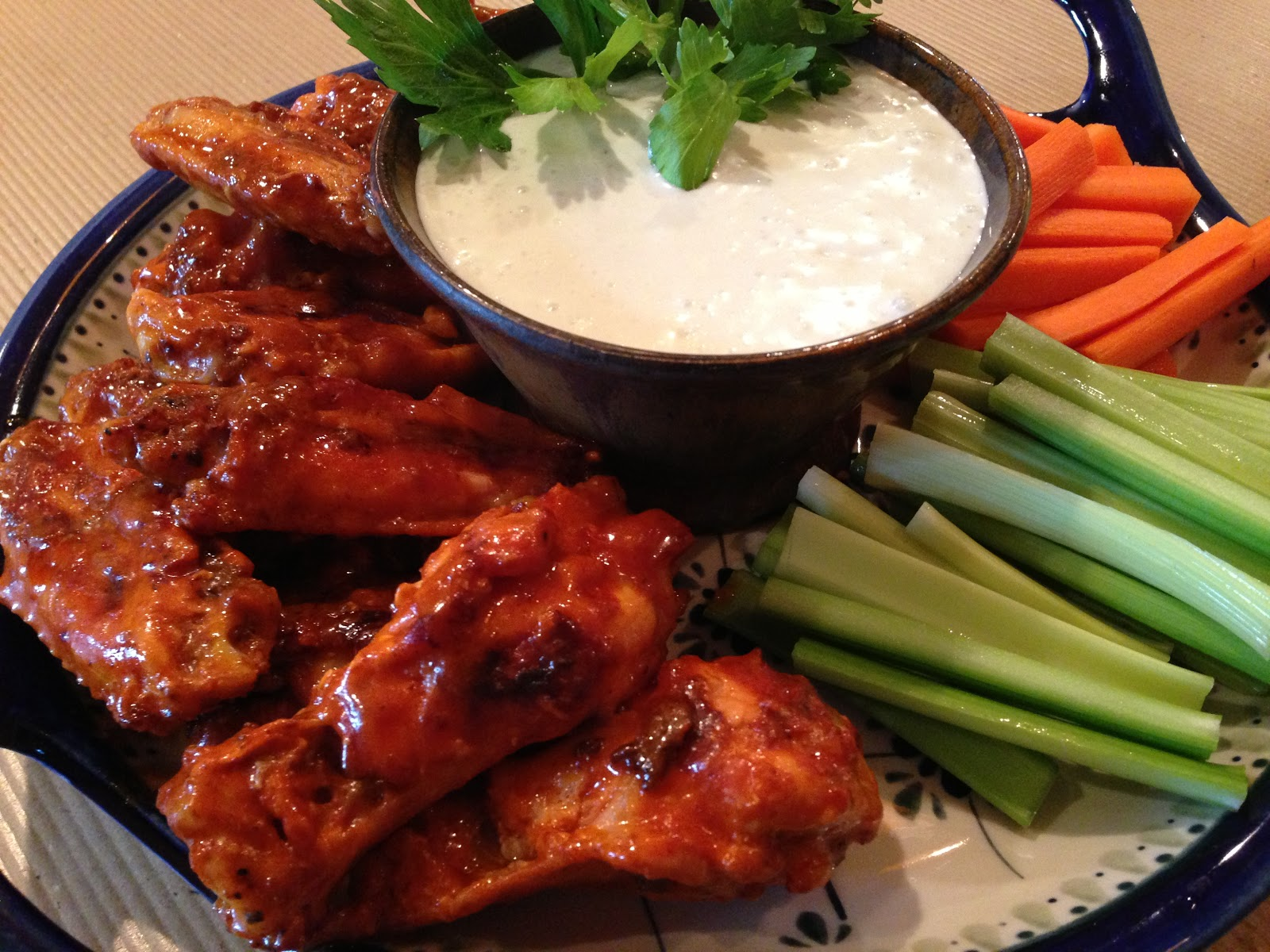 Cast Iron Buffalo Wings Plated, Garnished, And Ready! Cook Chicken Thighs  20150406chickenwhitewineshallotpansaucerecipe