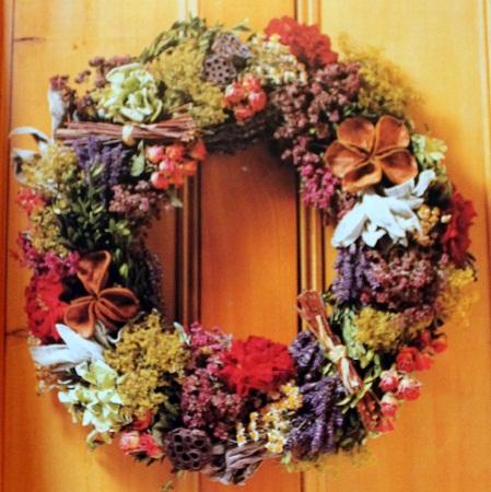Como decorar con flores secas corona de - Flores secas para decorar ...