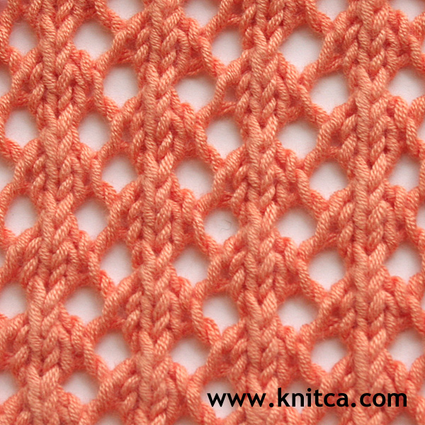 Knitting Adding Stitches In The Middle Of A Row : knitca: 5 beautiful lace stitches for summer knits